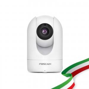 Foscam R2M Motorizzata 2 Megapixel Full-HD1080P 100° Visione Diagonale compabile con Alexa