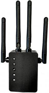 Foscam WiFi Range Extender Router Ripetitore di segnale Internet 1200 Mbps amplificatore wireless dual band 2.4G e 5GHz con segnale led intelligente - alta velocità, configurazione con pulsante WPS porta Ethernet