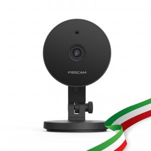 [PRE-ORDINE] Foscam C2M Nera Telecamera IP da Interno WiFi 2.4/5 Ghz HD 1080p (2.0 Megapixel), Visione notturna, Motion Detection, E-mail Alert, microSD slot Colore nero