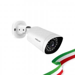 Foscam G2EP Telecamera da Esterno PoE 2 Megapixel Full HD 1080P con infrarossi fino a 20 Metri Compatibile con Alexa