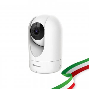 Foscam R4M Motorizzata 4 Megapixel Ultra HD H.264 Wireless 112° Diagonale Compatibile con Alexa