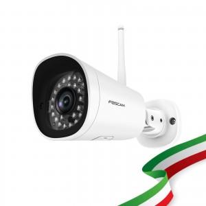 Telecamera Ricondizionata Foscam FI9902P 2 Megapixel Full HD1080P H.264 Wireless/Cavo con Visione Notturna 20 Metri Compatibile con Alexa