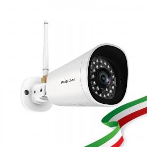 Telecamera Ricondizionata Foscam G4P 4 Megapixel  2K H.264 Wireles/Cavo con visione notturna 20 Metri Compatibile con Alexa