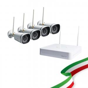 Kit Videosorveglianza WiFi 8 Canali Foscam con 4 Telecamere IP Wireless Full HD 1080P con sistema Mesh [Hard Disk escluso]