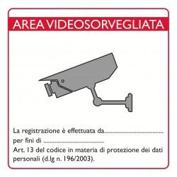 Lookathome CART01 Cartello videosorveglianza PVC rigido 16x16