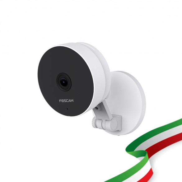 Foscam C2M Telecamera IP WiFi 2.4/5 Ghz HD 1080p (2.0 Megapixel), Visione notturna, Motion Detection, E-mail Alert, microSD slot, ONVIF, P2P, Plug & Play, Cloud