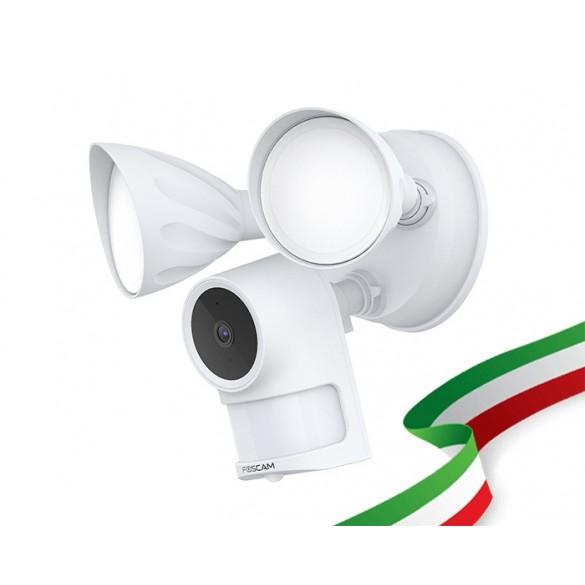 telecamere con faretto LED