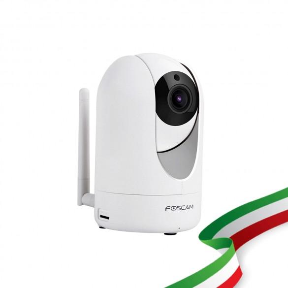 [IDEALE CONTROLLO ANZIANI / BAMBINI / ANIMALI ] Foscam R2M Motorizzata 2 Megapixel Full-HD1080P 100° Visione Diagonale compabile con Alexa