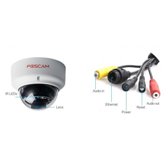 Telecamera  Foscam D2EP da esterno waterproof HD 2 megapixel  POE funzione P2P 4mm 70°