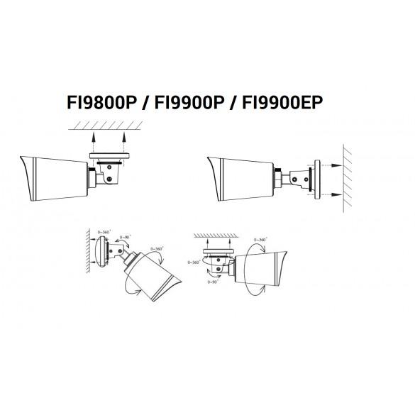 Foscam FI9800P - 1 Megapixel HD720P H.264 Wireless/Cavo con Filtro IR-Cut - 20 Metri - 75°